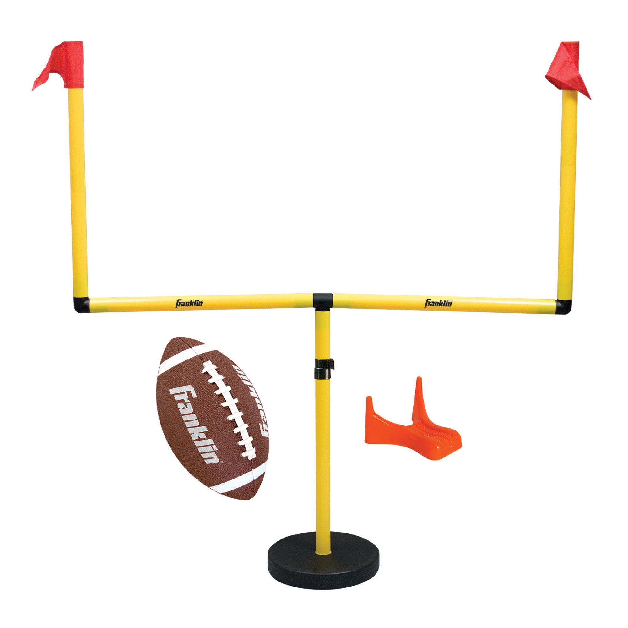 Franklin Sports Youth Football Goal-Post Set - Kids' Football Goal Post with Mini Football - Fun Football Goal for All Ages - Easy Assembly - Adjustable Height - Weighted Base by Franklin Sports