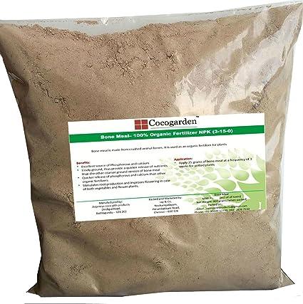 Cocogarden Steamed Bone Meal- Organic Npk(3-15-0) Fertilizer - 900 Gms