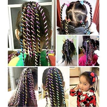 dernière mode nouvelles variétés livraison rapide Jeu de 6 pièces/bébé fille Bigoudis Cheveux Tressé avec ...