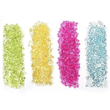 MMBox Pack de 240 g Colorful Beads perlas de Pecera gotas boda mesa decoración de cristal acrílico pecera pecera Slime bolas de Gel perlas de agua Style 2: ...
