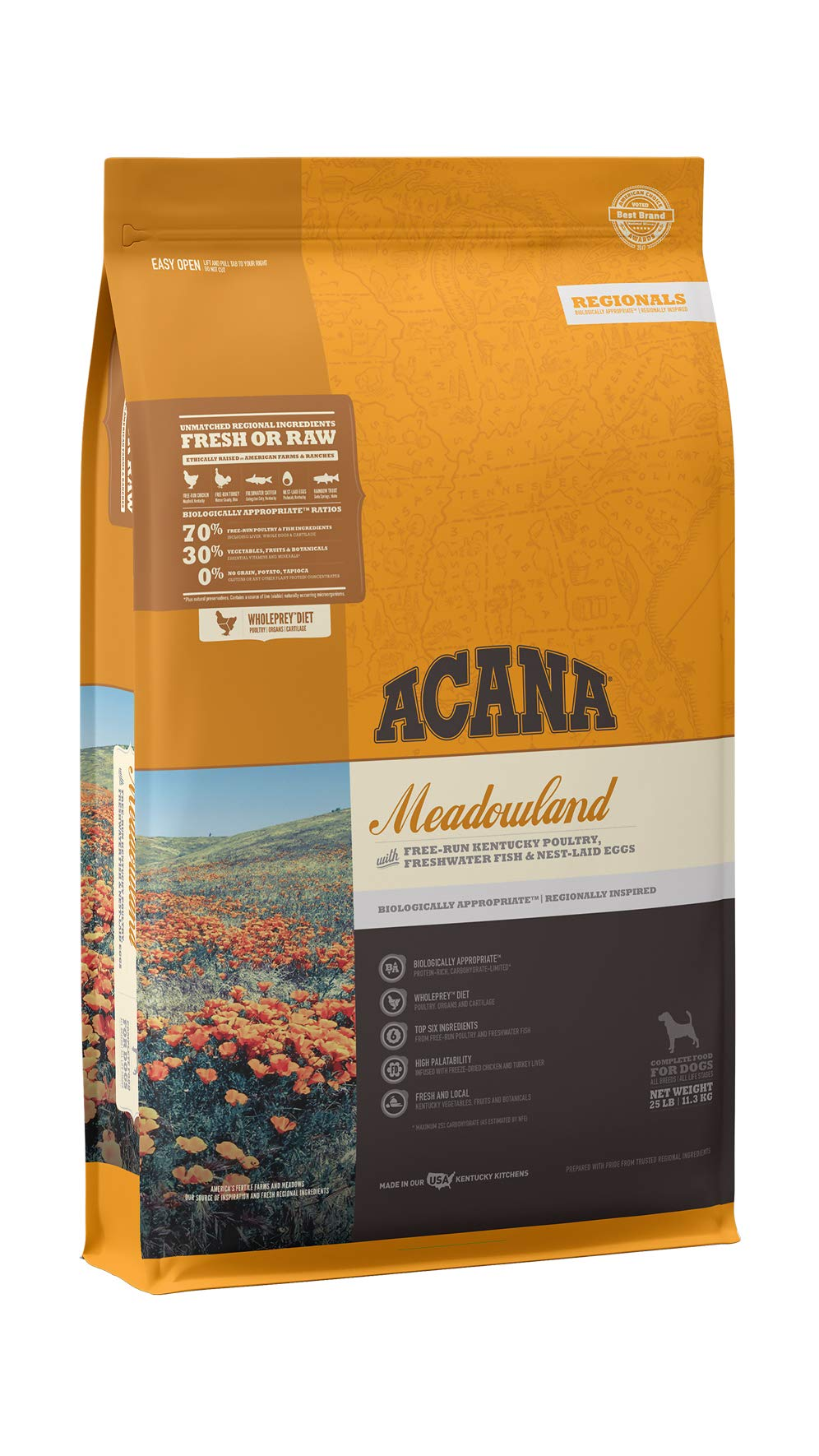 ACANA Regionals Dry Dog Food, Meadowland, Biologically Appropriate & Grain Free by ACANA