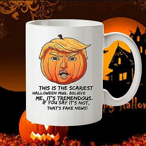 Amazoncom Donald Trump Halloween Mug Halloween Gifts Trump Mug
