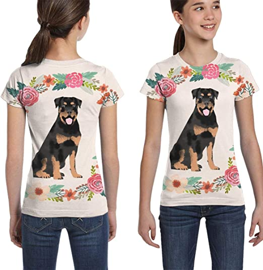 Helen vi Chicas Camisetas 10-12, 8 Pulgadas Rottweiler Floral ...