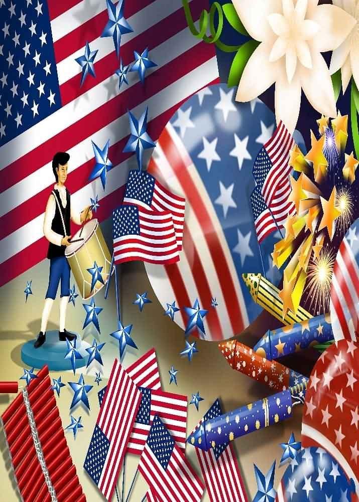GladsBuy American Flag 10 x 10 Computer Printed Photography Backdrop Flag Theme Background LMG-082