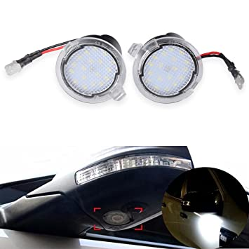 NGCAT - 2 luces LED para espejo retrovisor delantero de coche, 12 V, color blanco: Amazon.es: Coche y moto