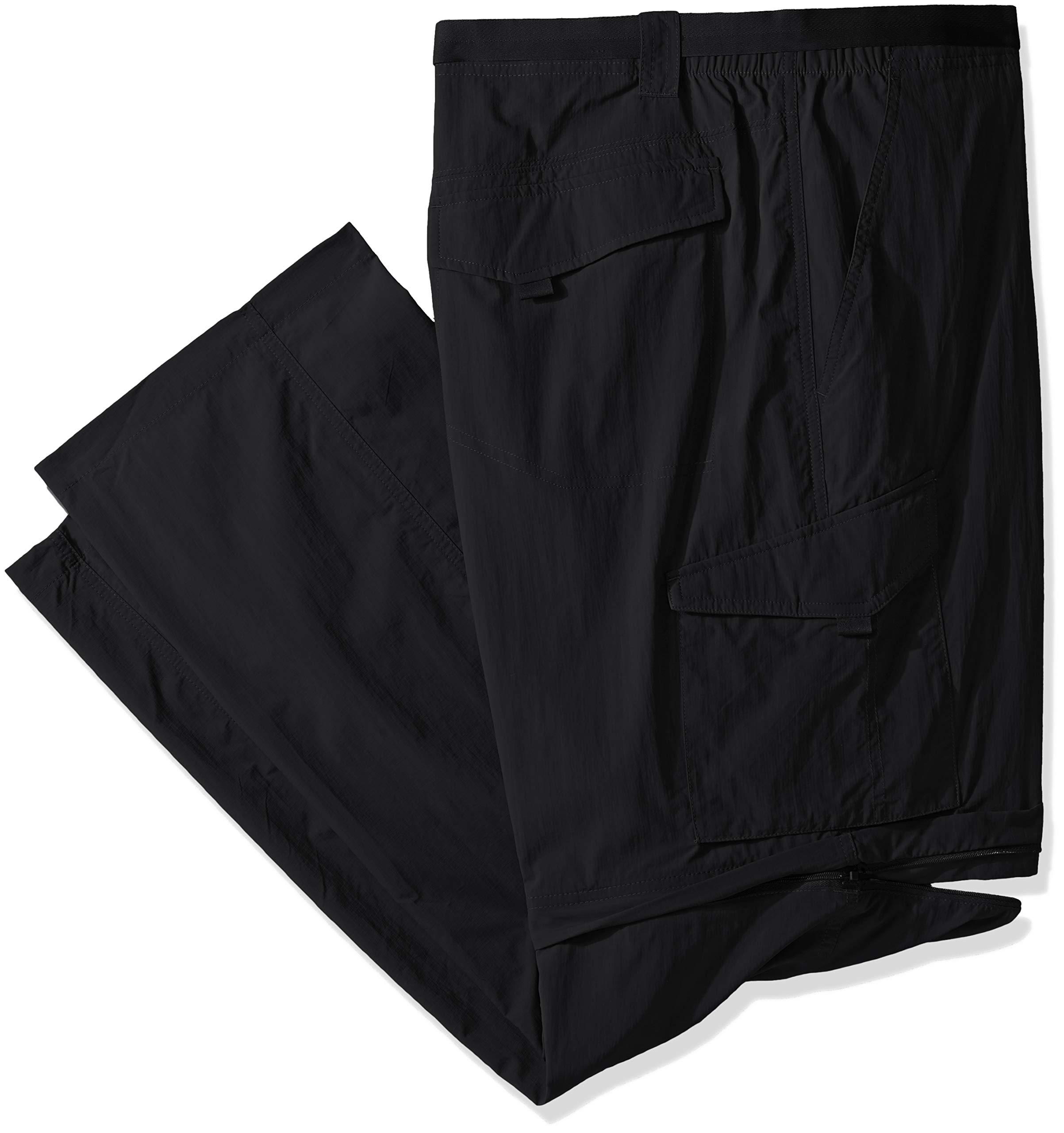 Columbia Sportswear Men's Big and Tall Silver Ridge Convertible Pant, Black, 46 x 34-Inch