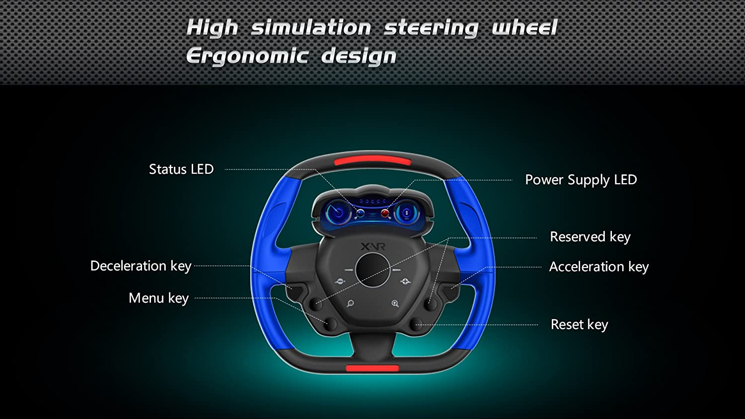 Resulzon 3d Vr Glasses Virtual Reality Headset For Moto Mirror Switch Wiring Diagram Racing Games Bluetooth Connection 360panoramic Force Feedback Steering Wheel