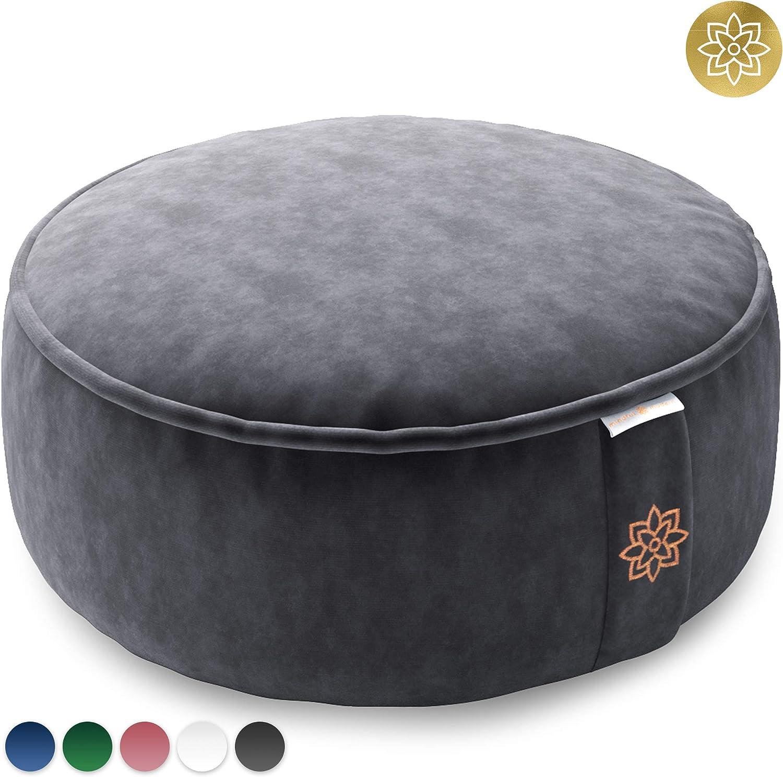 Amazon.com : Mindful and Modern Velvet Meditation Cushion ...
