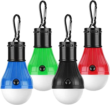 Blue //Red Light EV Portable Outdoor Camping LED Light Tent 4 Modes 2X18650 Lamp
