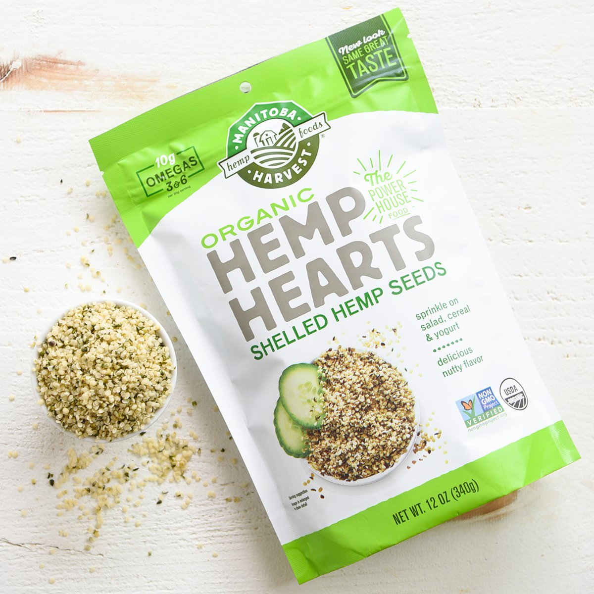 Manitoba Harvest Organic Hemp Hearts Raw Shelled Hemp Seeds, 5lb; with 10g Protein & 12g Omegas per Serving, Non-GMO, Gluten Free by Manitoba Harvest (Image #7)