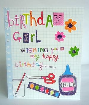 Birthday Girl Wishing You A Tres Joyeux Anniversaire Neon Femelle