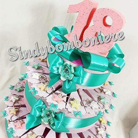 Torta Bomboniera 18 Anni Diciottesimo Compleanno Per Ragazza
