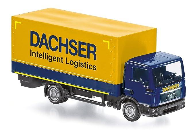 """Flatbed truck (MAN TGL) Control87 - """"Dachser"""". 1:87"""