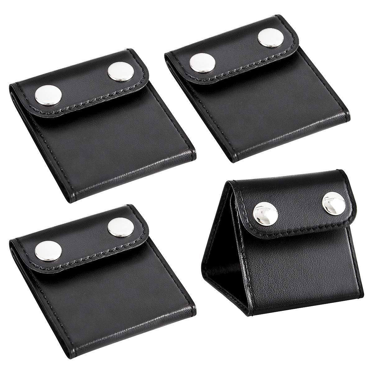 PAMASE 4 Pcs Car Seat Belt Clips Adjusters for Adults and Kids, PU Leather Seatbelt Locking Clips Comfort Universal Auto Shoulder Neck Strap Positioner, Vehicle Seat Belt Covers by PAMASE