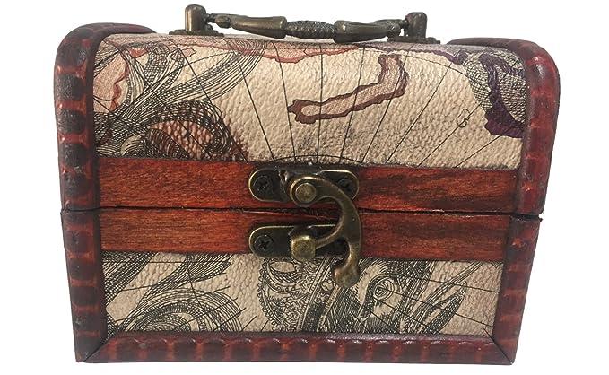 c4f31102e cofre de madera grande decorado con mapas para joyas