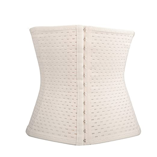 0f96cb069d Queenral Waist Trainer Corset Weight Lose Slimming Belt Women Shapewear  Apricot