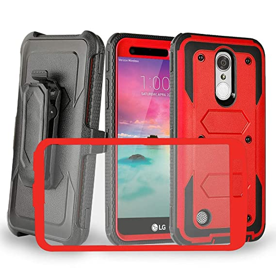 best value 76095 1e88e LG K20 Case,LG K20 Plus,LG K20 V K20V/Harmony,LG Grace LTE Case with  Shockproof [Built-in Screen Protector] Strong Full-Body Rugged PC Back &  Soft CPU ...