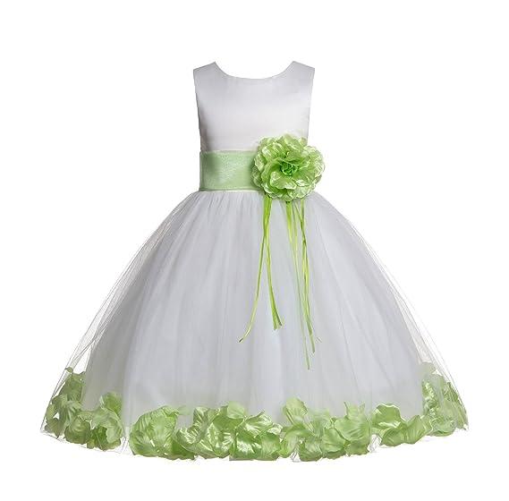 4eed52d8e8a7d Amazon.com: ekidsbridal Rose Petals Ivory Flower Girl Dress Birthday ...