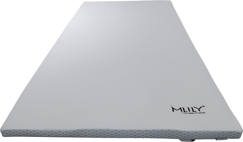 Ebitop Matratzenauflage 80x200x4 cm Viskose Topper viskoelastische Auflage f/ür Matratze//Boxspringbett H2+ Matratzentopper Traum-Schlaf wei/ß
