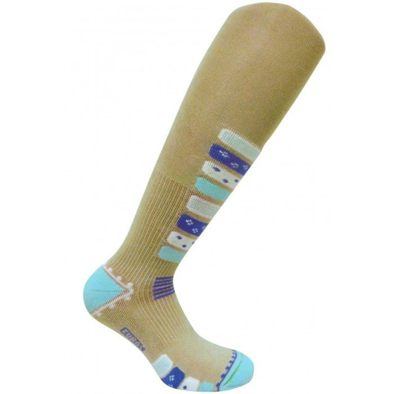 0917W Gradual Compression Boosts Performance Ultra Stretch Stimulate Blood Flow Eurosocks Women Ski Socks