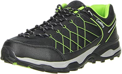 ConWay Damen Herren Trekkingschuhe Outdoorschuhe grün, Größe:36, Farbe:Grün