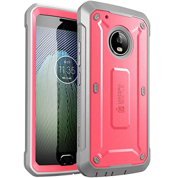 on sale 855d4 eb7fb Moto G5 Plus Case, SUPCASE Unicorn Beetle PRO Series Full-Body Rugged  Holster Case with Built-in Screen Protector for Motorola Moto G5 Plus 2017  ...