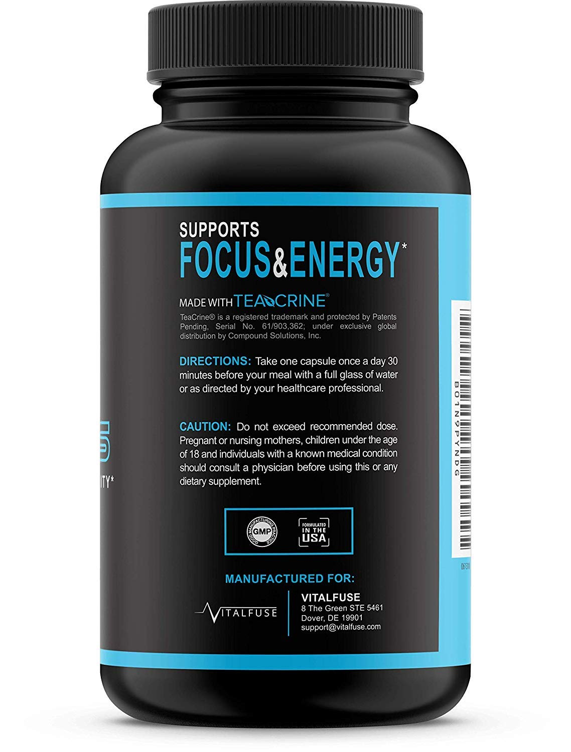 Extra Strength Brain Supplement Nootropic - Caffeine Pills for Focus,  Alertness & Energy, Natural & Time Release