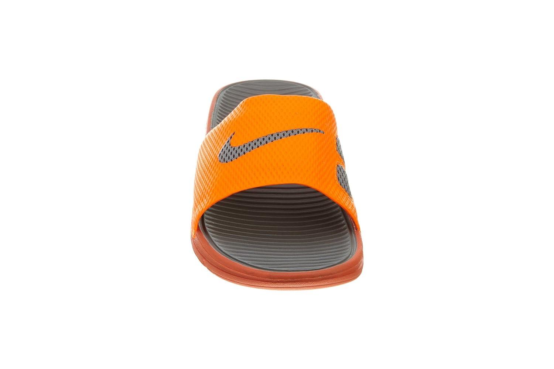 finest selection ccb04 6a5dc Amazon.com   Nike Men s Benassi Solarsoft Slide Total Orange Sport Grey  Sandal 13 D - Medium   Sandals