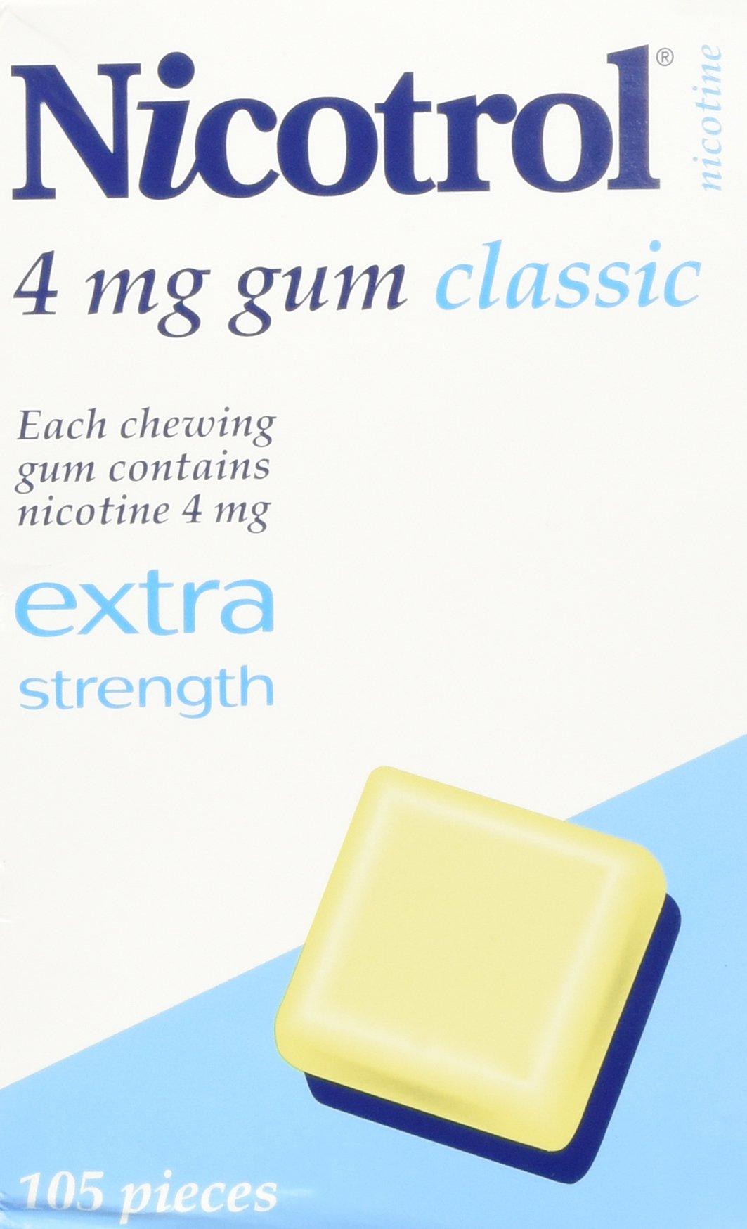 Nicotrol Nicotine Gum 4mg Classic 2 Boxes 210 Pieces