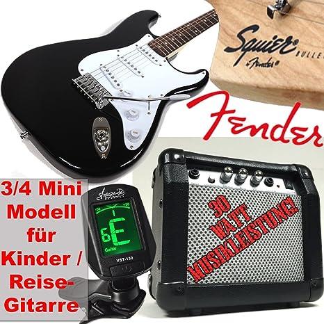 Original Fender Guitarra eléctrica para niños Squier Bullet Strat RW V2 3/4 Mini,