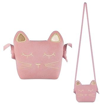 4ec2b5ebe07c Deoot Little Girls Purses Pink Cute Cat Shoulder Crossbody Bag for Kids