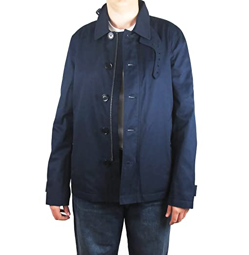 91ed48ba8 Burberry Brit Mens Hayward Fallow Navy 100% Cotton Sporty Trench ...
