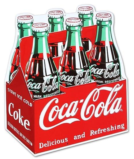 Amazon.com: Coca Cola caja de cartón gofrado troqueladas Tin ...