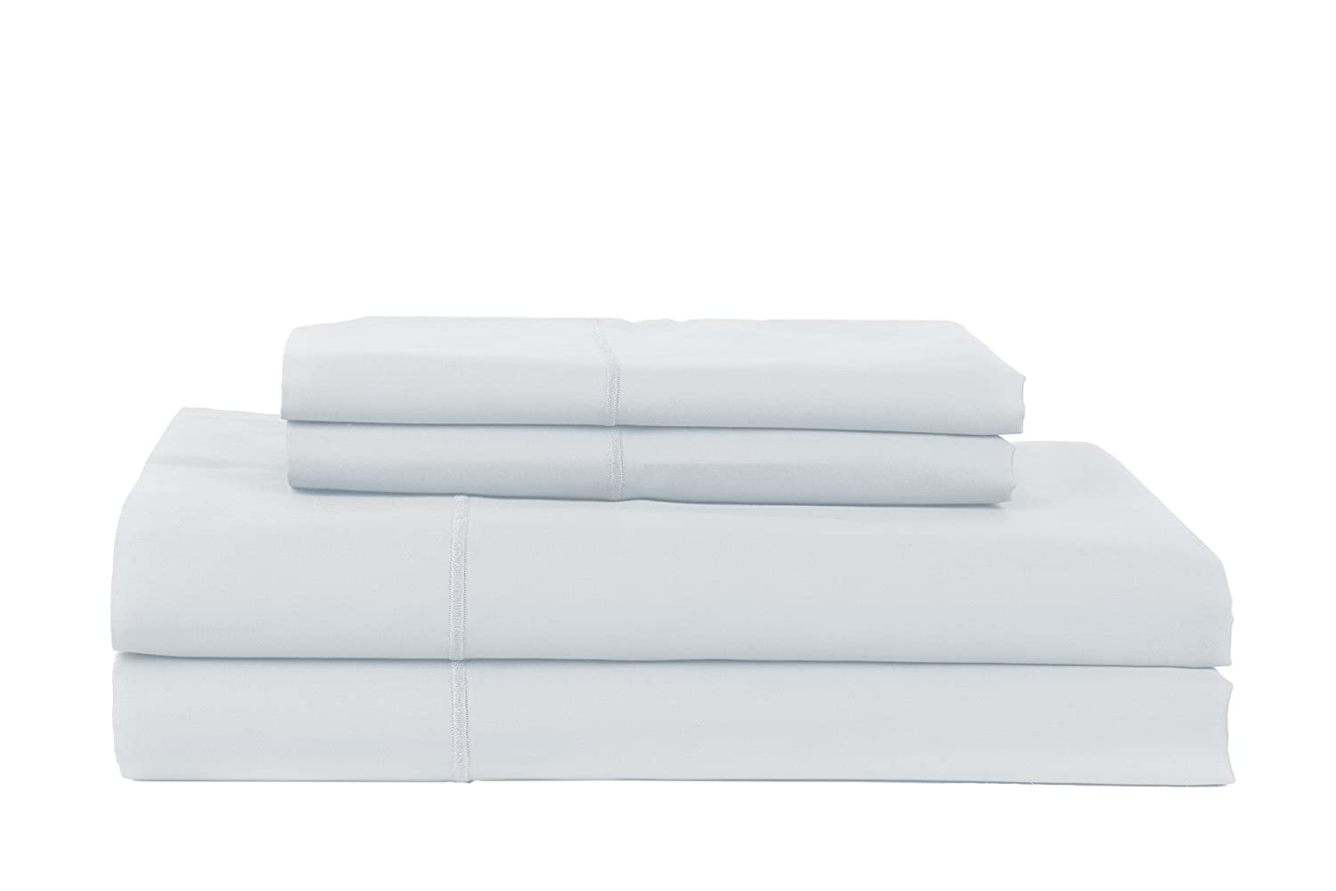 Perthshire Platinum Collection Solid 100/% Egyptian Cotton Sateen Sheet Set King White Textile Décor PPC-T840K-PL-SAT-WH-EG