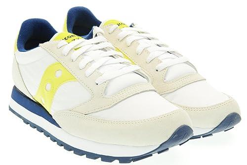 d1eb21a816 Sneaker Saucony Jazz in suede grigio e nylon bianco