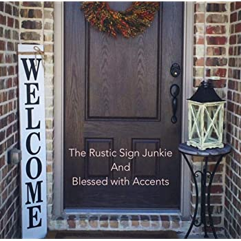 Incroyable Emily Welcome Signs Rustic Welcome Signs Welcome Porch Signs Front Porch  Decor Rustic Welcome Signs Front