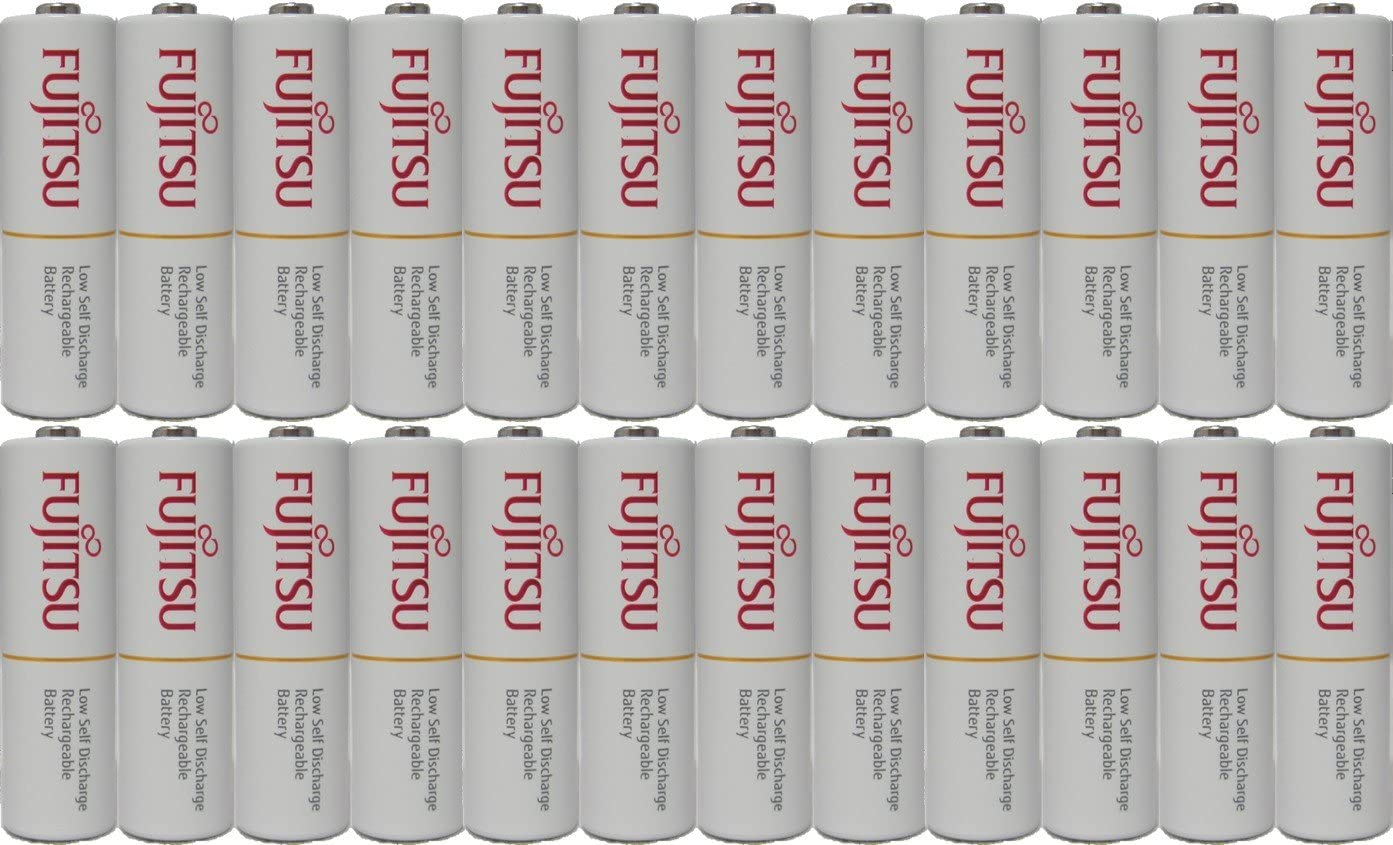 100 Fujitsu Ready-to-use HR3UTC AA Rechargeable Batteries NiMH 1.2V Min. 1900mAh Made in Japan
