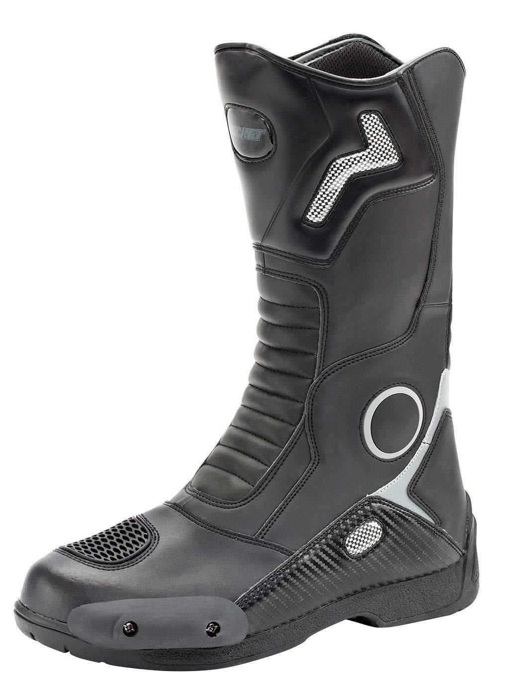 Joe Rocket 1377-0013 Ballistic Touring Men's Boots (Black, Size 13)