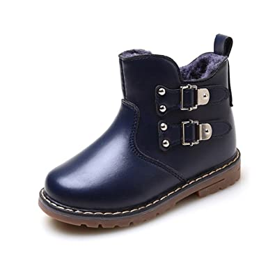 c85d976ae5d9e Amazon.com: Baqijian Winter Boys Boots Casual Soft Cow Muscle Pu ...