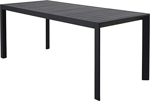 Chicreat - Mesa extensible de aluminio para jardín, 127-180 x 77 x 71, 5 cm (Gris- Carbón): Amazon.es: Jardín