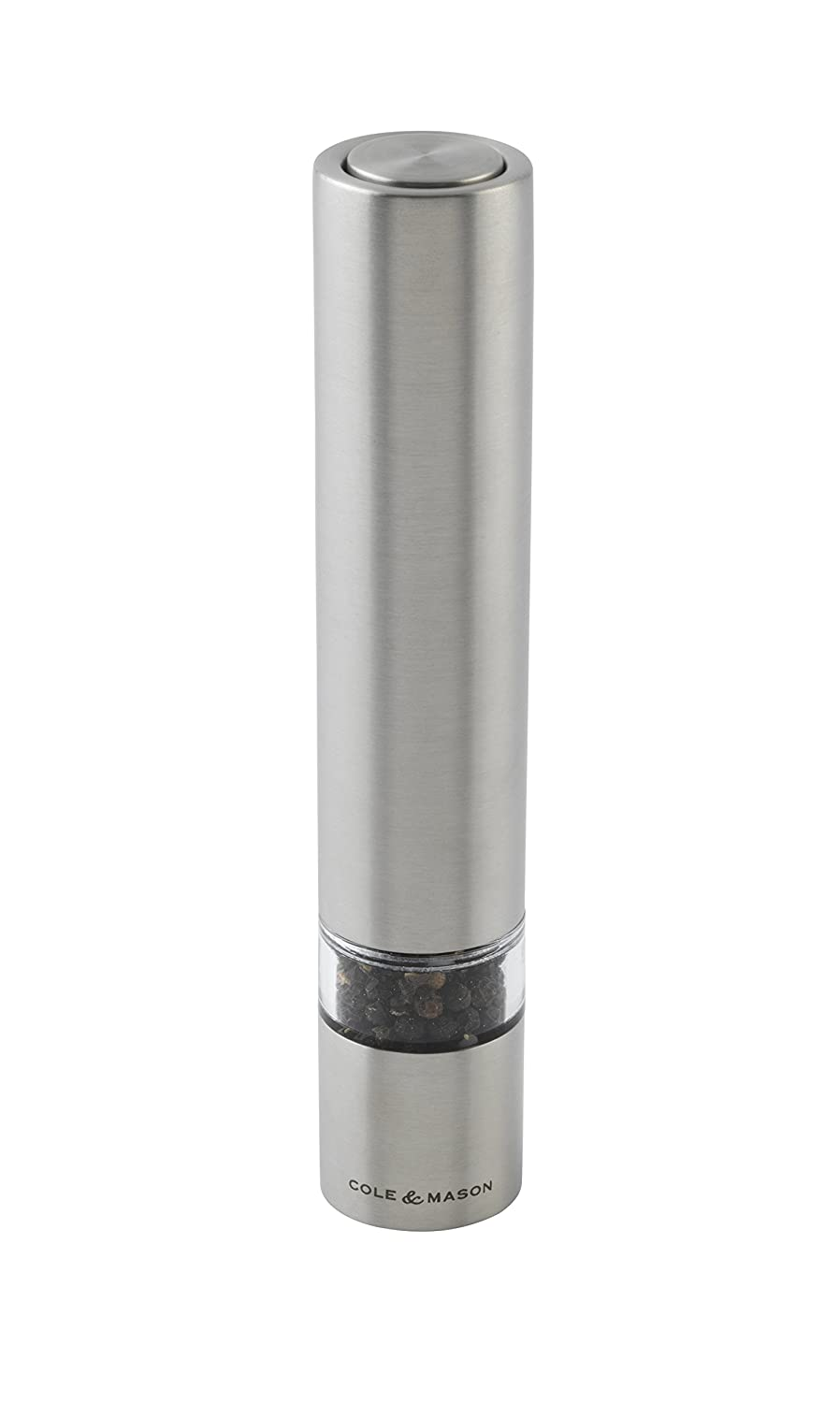 Cole & Mason Electronic Chiswick Salt or Pepper Mill, Stainless Steel/Silver, 17.5 cm DKB Household H3056410