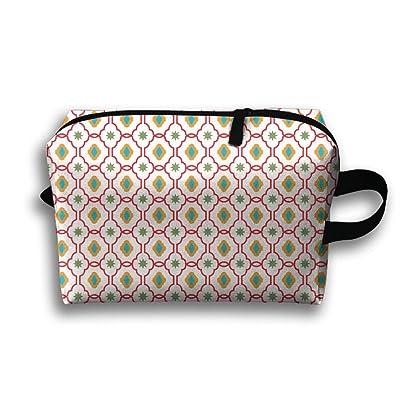 Flower Figure Geometry Vector Multifunction Portable Pouch Waterproof Travel Bag