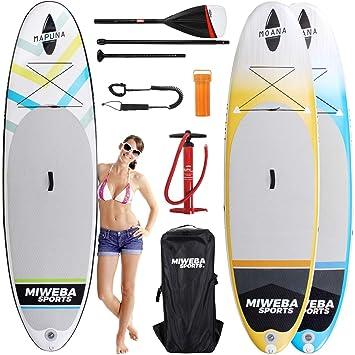 Tabla de surf a remo Miweba Moana, para padel surf, inflable, de ...
