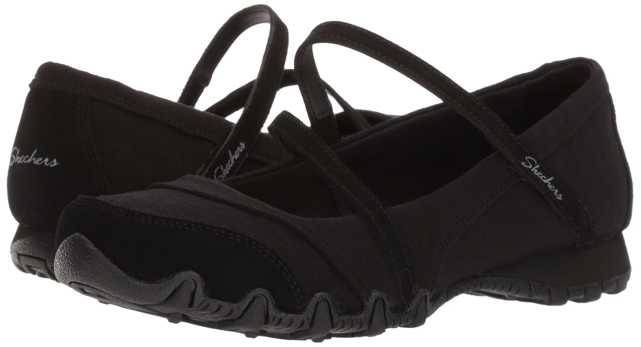 Skechers Women's Bikers -Fiesta Mary Jane Flat,7 M US,Black by Skechers (Image #6)