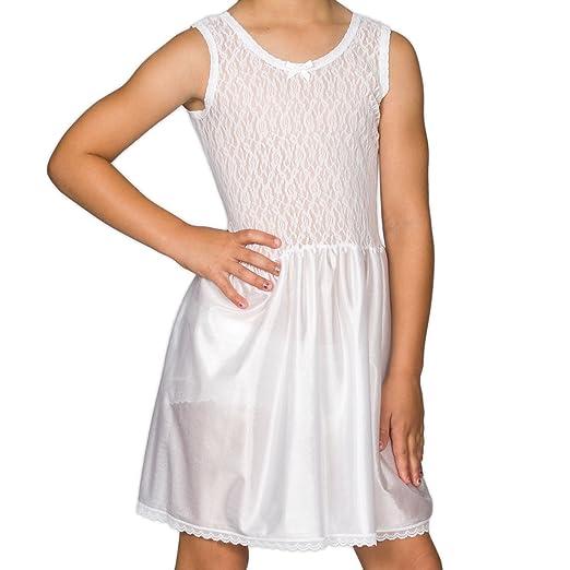 I.C 10 Collections Big Girls White Simple Empire Waist Slip Underwear Slips