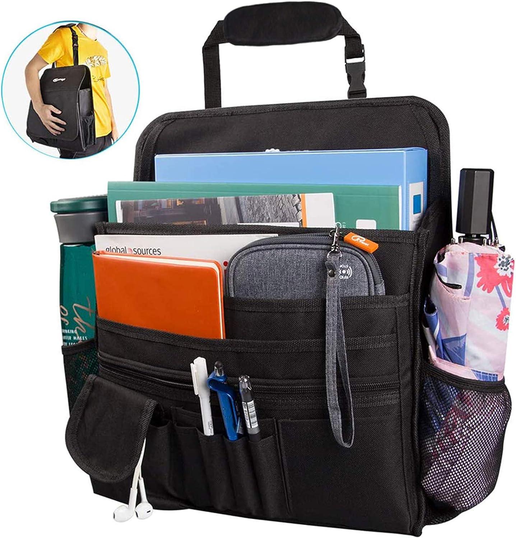 Helen Butler Car Front Passenger Seat Organizer - 16 Storage Pockets for Laptop/iPad/File Storage Waterproof Car Seat File Organizer for Kids & Adults
