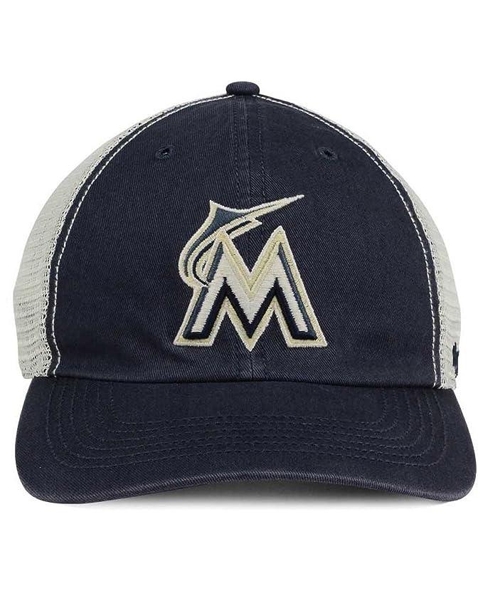 buy popular fbdd8 897a1 Amazon.com   Miami Marlins  47 MLB Griffin  47 CLOSER Cap   Sports    Outdoors
