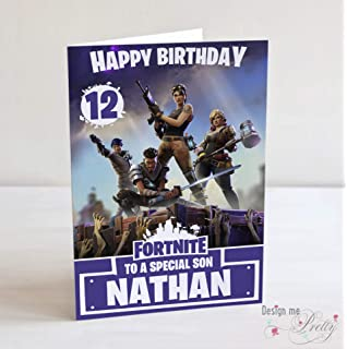 photograph about Fortnite Birthday Card Printable called Content Birthday Greeting Card Enjoying Fortnite Match Father