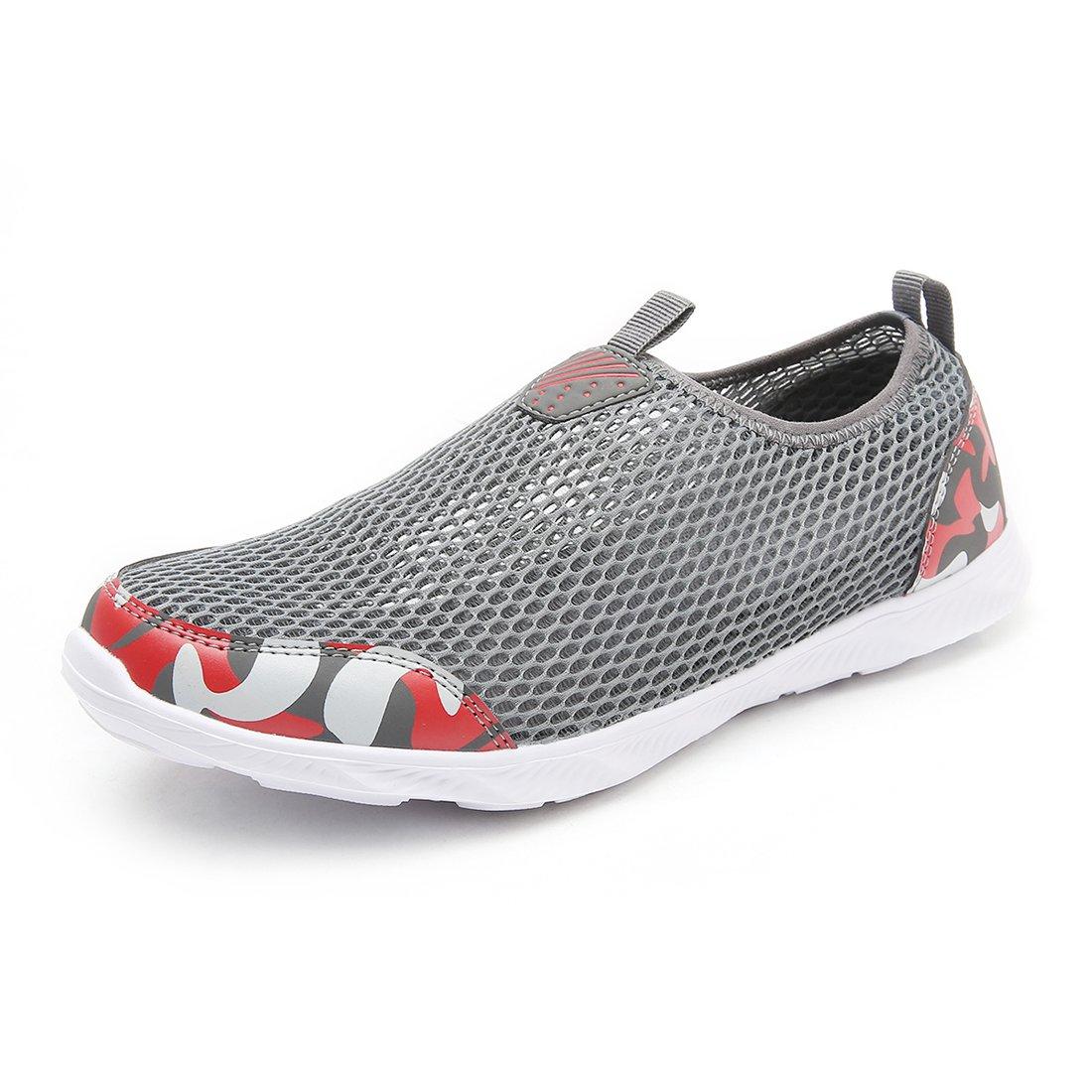 HOBIBEAR Men Women Quick Dry Water Shoes Lightweight Slip-on Aqua Sneakers for Walking Boating Sailing Running B07BJJDNCB 7.5 D(M)US Men/8.5 D(M)US Women|Camouflage/Grey