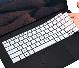 "CaseBuy Keyboard Cover Skin for 2020 New Dell XPS 15 9500 15.6 Laptop/New XPS 17 9700 17"" Laptop, Dell XPS 15 9500 Keyboard Protector Skin, White"